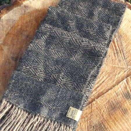 woven alpaca scarf